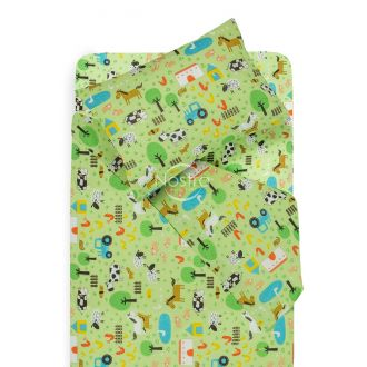 Children bedding set FARM 10-0513-GREEN