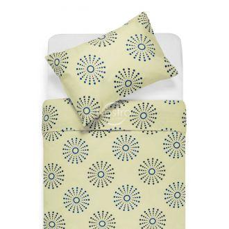 Cotton bedding set DOXIE 30-0270-BEIGE/BLUE
