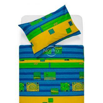 Drobės patalynės komplektas DIZZY 40-0098-BLUE