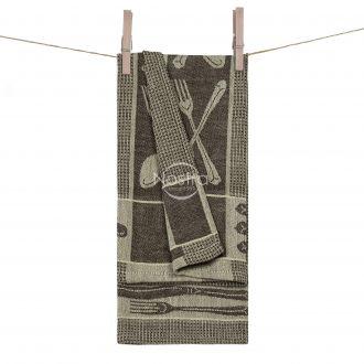 Kitchen towel WAFEL-240 T0018-BEIGE CHOC