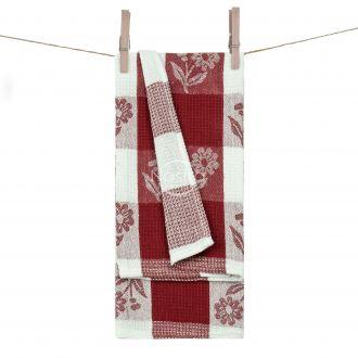 Kitchen towel WAFEL-240 T0102-BORDO