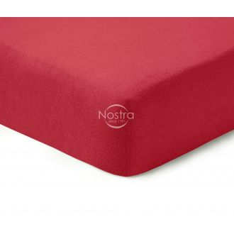 Fitted terry sheets TERRYBTL-WINE RED