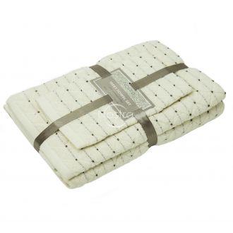 3 dalių rankšluosčių komplektas T0107 T0107-WHITE
