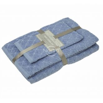 3-х предм. набор полотенец T0107 T0107-SOFT BLUE