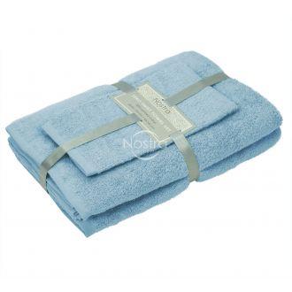3 pieces towel set 380 ZERO TWIST 380 ZT-PLACID BLUE