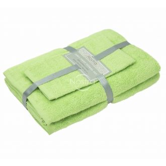 3 pieces towel set 380 ZERO TWIST 380 ZT-JADE LIME