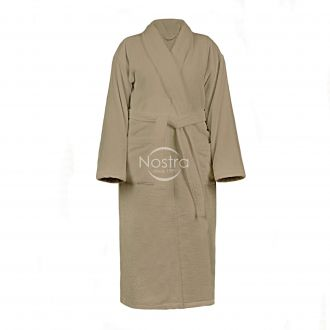 Chalatas VELOUR-430 430 BATHROBE-BROWN