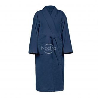 Chalatas VELOUR-430 430 BATHROBE-BLUE