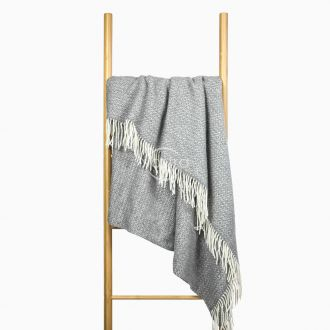 Woolen plaid MERINO-300 80-3133-GREY