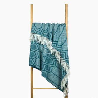 Woolen plaid MERINO-300 80-3232-MARINE