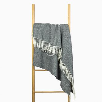 Woolen plaid MERINO-300 80-3236-DARK GREY