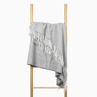 Woolen plaid MERINO-300 80-3236-GREY