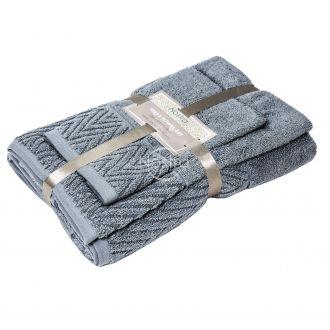 3 dalių rankšluosčių komplektas T0108 T0108-GREY 70