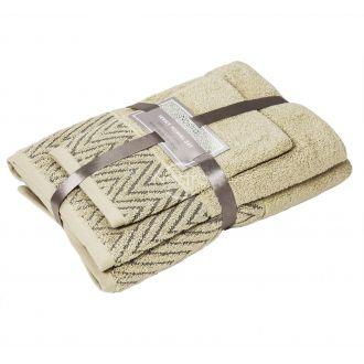 3 dalių rankšluosčių komplektas T0108 T0108-ECRU