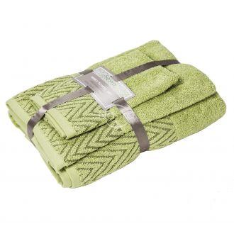 3 dalių rankšluosčių komplektas T0108 T0108-CELERY GREEN