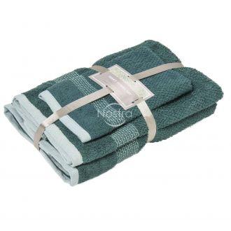 3-х предм. набор полотенец T0106 T0106-PINE GREEN