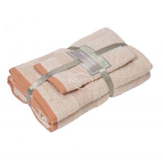 3 dalių rankšluosčių komplektas T0106 T0106-CREAM