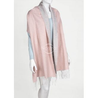 Scarf MAROCCO-325 DOUBLE FACE-L.GREY PINK