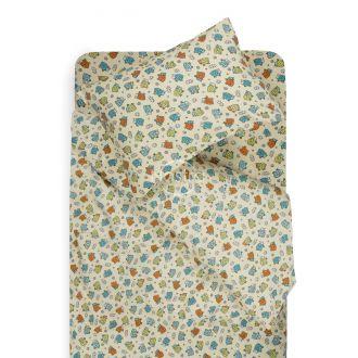 Детское фланелевое постельное белье CRAZY SHEEP 10-0480-L.BLUE