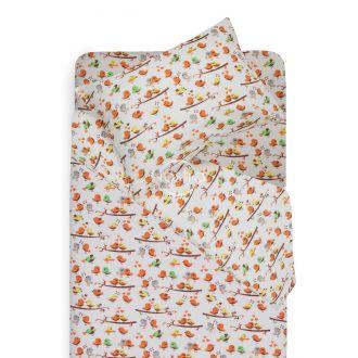Детское фланелевое постельное белье BIRDS 10-0487-ORANGE