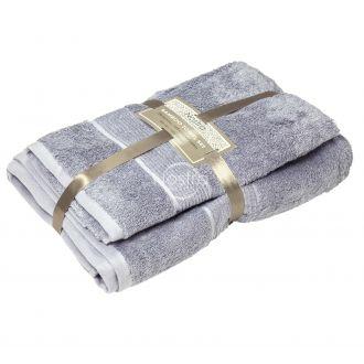 Bambukinių rankšluosčių komplektas BAMBOO-600 T0105-GREY BLUE