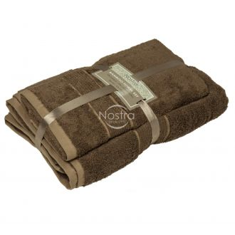 Bamboo towels set BAMBOO-600 T0105-GINGER BROWN