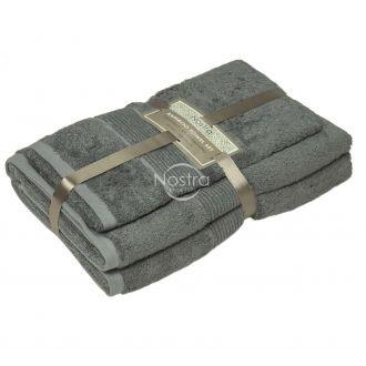 Bambukinių rankšluosčių komplektas BAMBOO-600 T0105-FROST GREY
