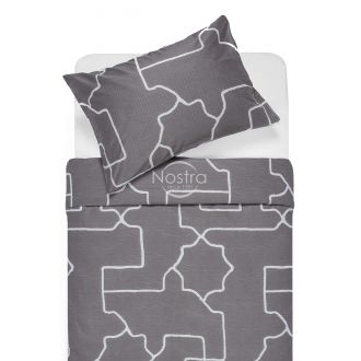 Sateen bedding set ADRIANE 30-0547-DARK GREY