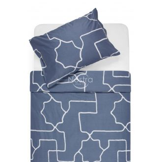 Sateen bedding set ADRIANE 30-0547-STONE BLUE