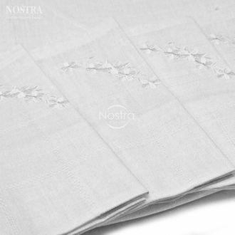 Medvilninės siuvinėtos servetėlės SERVETĖLĖS-WHITE N3