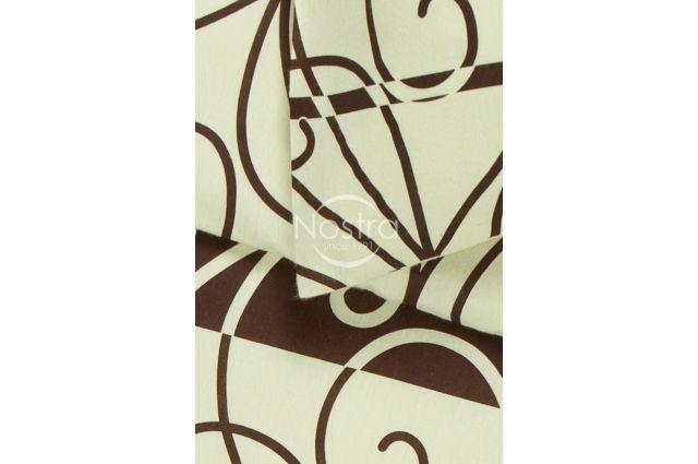 flaneline medvilnine rusva patalyne su rudais ornamentais