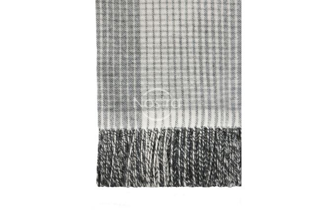 pilkas merino vilnos pledas su kasmyru