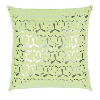 Pillow METALIC 70-0024-SOFT GREEN/SILVER