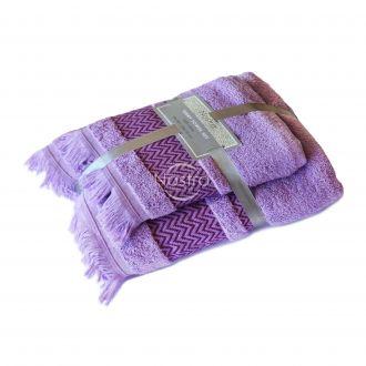 2 pieces towel set T0058 T0058-LAVENDER