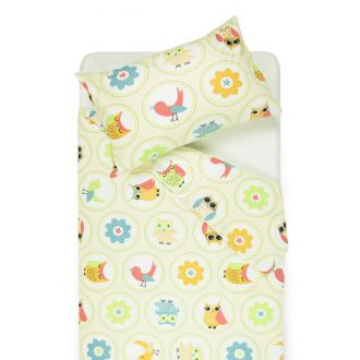 Children bedding set HAPPY OWL 10-0012-BEIGE