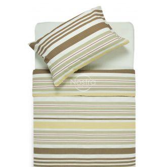 Seersucker bedding set ELLY 30-0523-BROWN