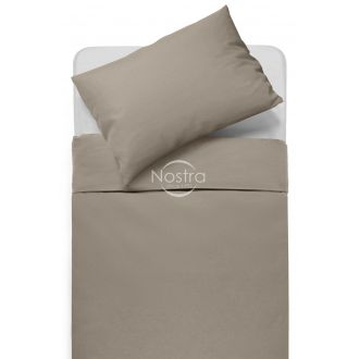 Cotton bedding set DOTTY 00-0228-PALE BROWN