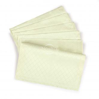 Жаккардовые сатиновые салфетки, 6 штук 80-0001-IVORY