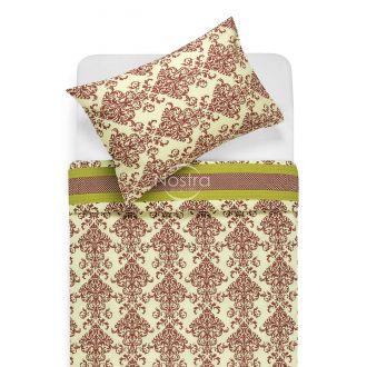 Seersucker bedding set ELANA 40-0603-RUBBY WINE