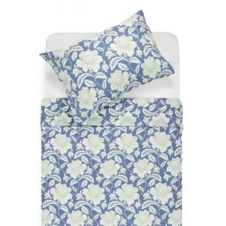 Renforcé bedding set NORA 20-0059-BLUE