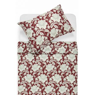 Renforcé bedding set NORA 20-0059-BORDO