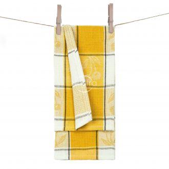 Kitchen towel WAFEL-240 T0019-DARK YELLO