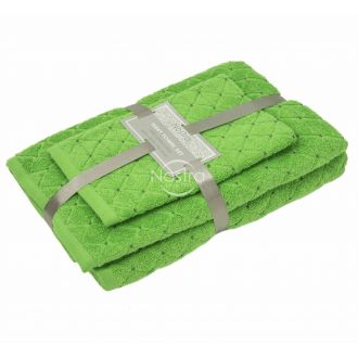 3 pieces towel set T0107 T0107-JASMINE GREEN