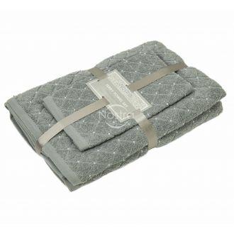 3 pieces towel set T0107 T0107-GREY 70