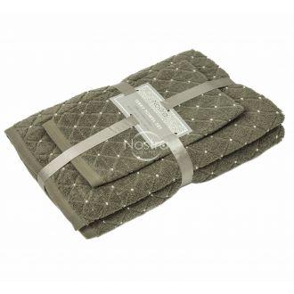 3 dalių rankšluosčių komplektas T0107 T0107-BROWN 393