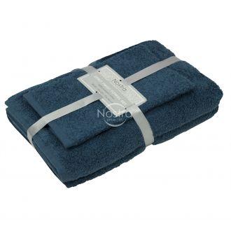 3 pieces towel set 380 ZT 380 ZT-MOROCCAN BLUE