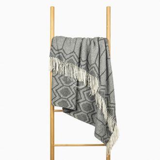 Woolen plaid MERINO-300 80-3232-GREY