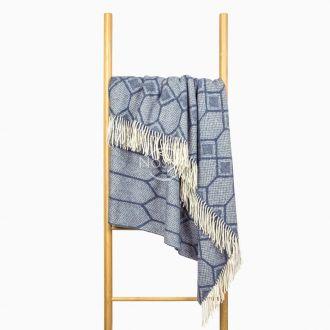 Woolen plaid MERINO-300 80-3237-BLUE