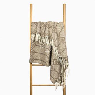 Woolen plaid MERINO-300 80-3238-BROWN