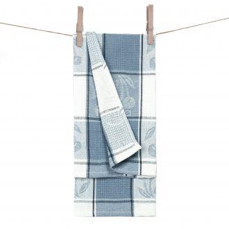 Kitchen towel WAFEL-240 T0019-BLUE
